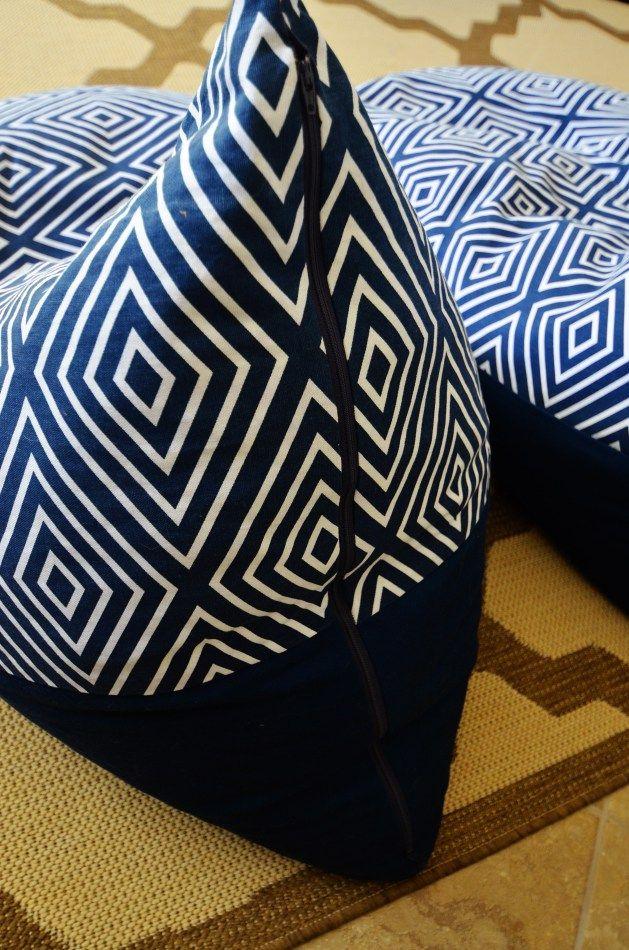 Textile Tuesday:  DIY Bean Bag Chairs