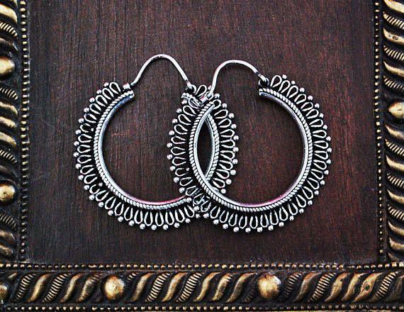 Ethnic India Hoop Earrings  BY COSMIC NORBU