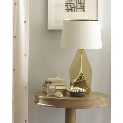 nate berkus table lamp base gold includes cfl bulb furnish pinterest lamp bases. Black Bedroom Furniture Sets. Home Design Ideas
