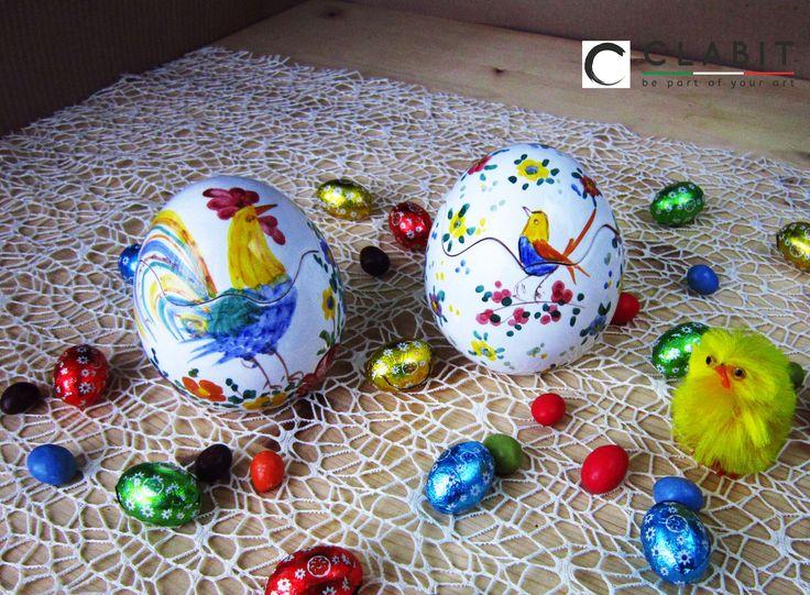 #Easter #Abruzzo #Pasqua #flowers #ceramic #handmade #fiori #flowers #birds  #uccellini #gallo #cock