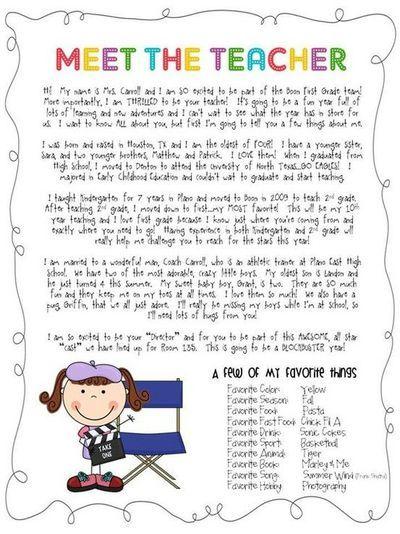 Meet The Teacher Letter / School Planning  Juxtapost cakepins.com