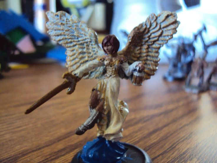 Angel figure that I painted.