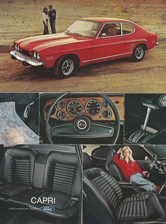 Capri MK 3 Ford 1977 Retro Style Car Babygrow