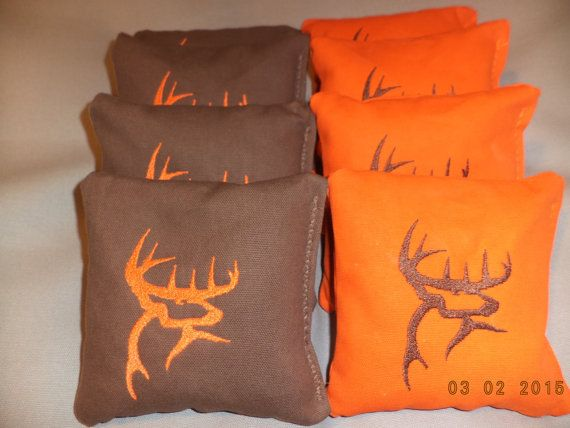 Cornhole Bags Deer Buck camouflage corn hole bean bags 8 ACA