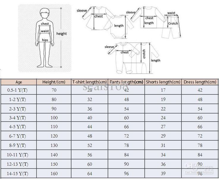 Best Size Charts Images On   Baby Sewing Measurement