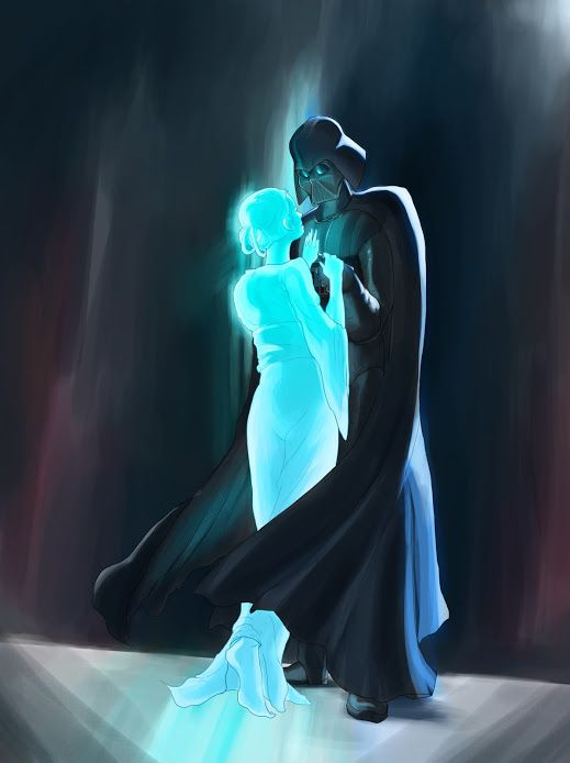 Vader and the ghost of Padmé ... What are you looking at? I'm not crying!! YOUR CRYING!!!
