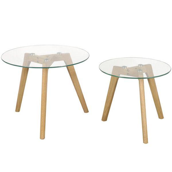 Las Mesas Meet Side pertenecen a la linea Escandinava de diseño y están realizadas en MDF  laqueada color blanco o en terminación con vidrio templado y patas en madera natural lustrada. Por sus dos alturas, son ideales para usar como mesas de arrime  y combinarlas con las Mesas Meet  como mesa de centro ya que combinan a la perfección por su distinta altura y diámetro.  Vienen de a dos!