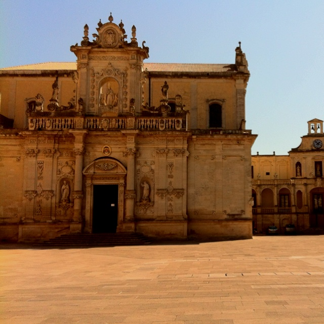 Visit of Lecce , the Duomo