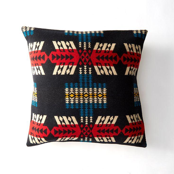 Reclaimed Pendleton blanket pillow from Whiskey Mustache