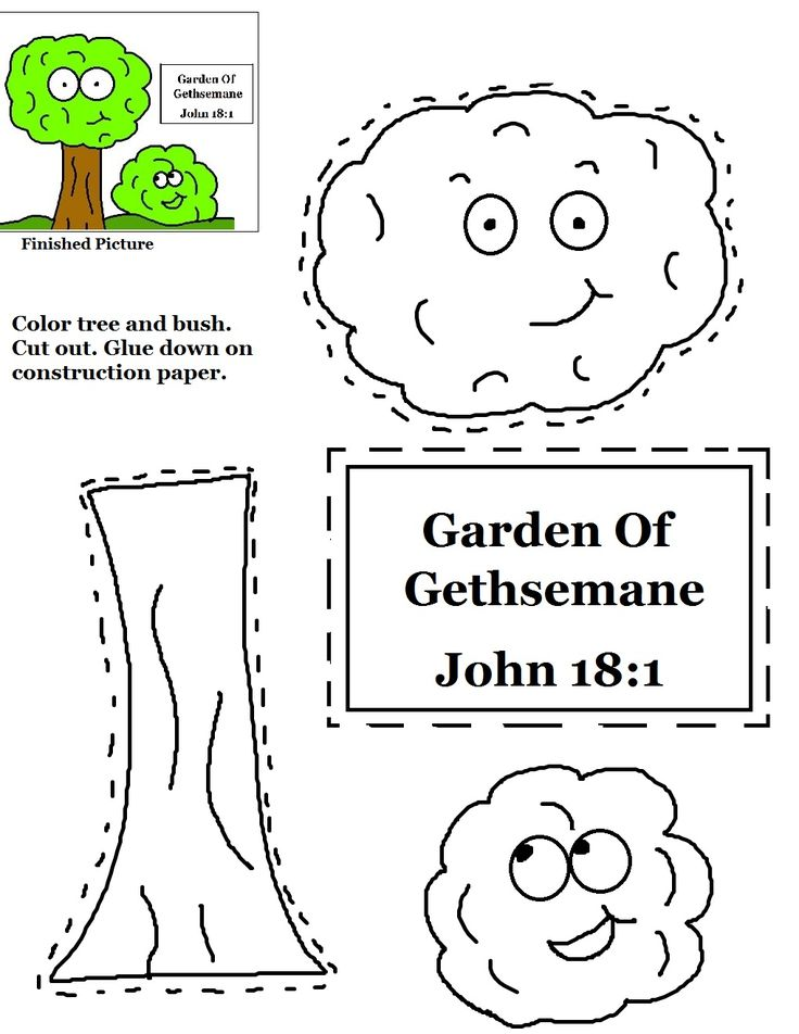 garden of gethsemane cutout activity sheet for kids - Coloring Page Garden Of Gethsemane