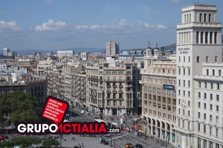 Ciudad de Barcelona. Grup Actialia ofrece sus servicios en Barcelona: Diseño web, Diseño gráfico, Imprenta y Rotulación. www.grupoactialia.com