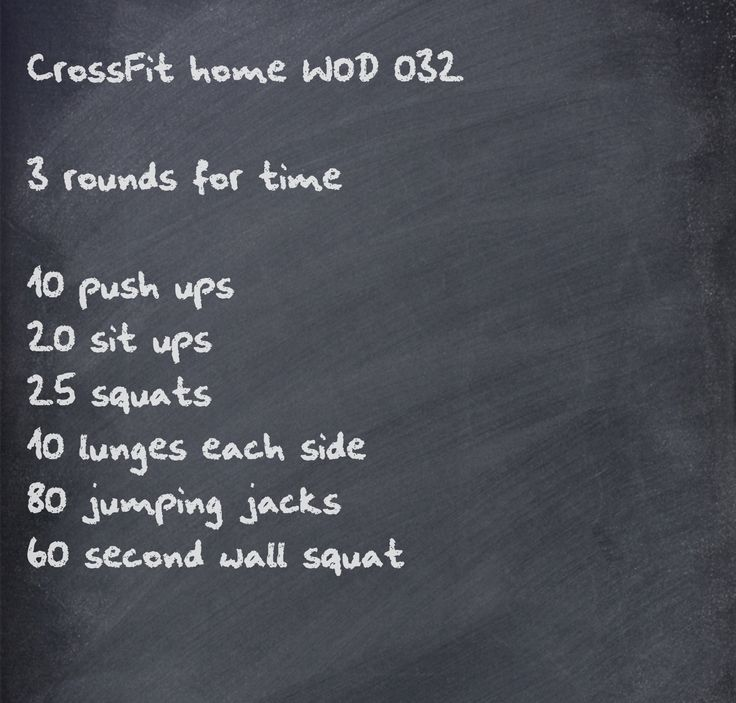 CrossFit home WOD