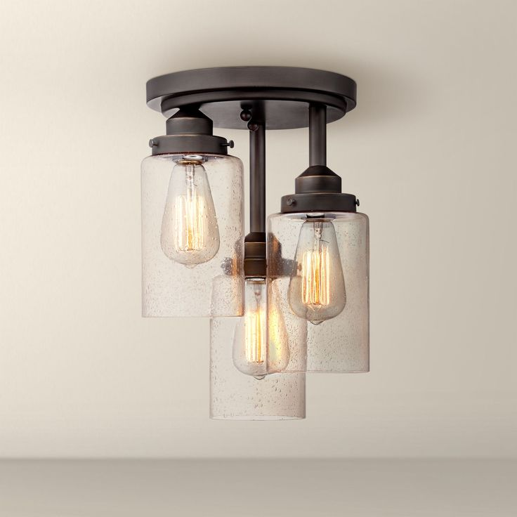 Mason Jar Flush Mount Light Part - 49: Libby Oil-Rubbed Bronze With Clear Glass Ceiling Light - #EU4X158 - Euro  Style