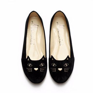 These awesome cat whisker flats is a great way to express your love for cats. They provide comfortability so it can help sustain long walks. These would be great for casual use, parties, or any occasi