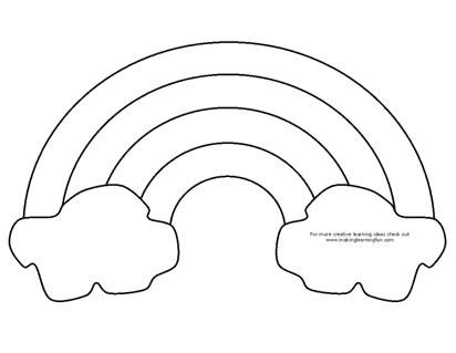 Rainbow coloring page craft either use as a coloring for Rainbow templates to colour