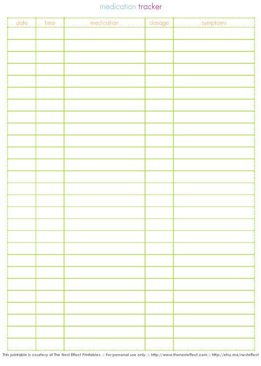 Free Printable: Medication Tracker: Medical Organizations, Organizations Nursing, Cognitive Linguist Tx, Medical Form, Forms Info, Medical Binder, Cleaning Organizations, Free Printable, Medical Printable