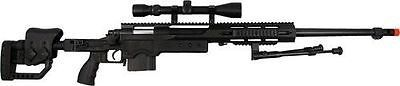 cool Well PSG-1 Bolt Action 440 FPS Airsoft Sniper Rifle Includes Scope and Bi-Pod - For Sale