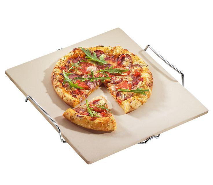 Küchenprofi PIZZA-STEIN, MIT UNTERSATZ, CORDIERIT Steinofenpizza wie vom Lieblings-Italiener gelingt jetzt auch zu Hause. Die hochhitzebeständigen Pizza- und Grillsteine garantieren knusprigen Boden. Auch die Zubereitung anderer Spezialitäten im Backofen wird zum Kinderspie