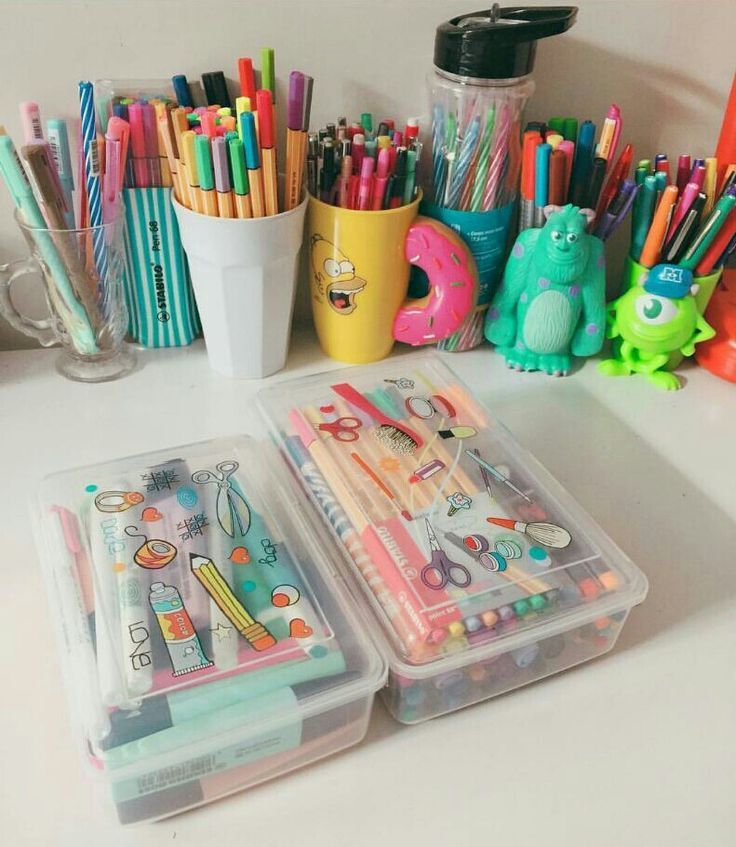 The Best Stationary Kit Ever I Tried It And You Guys Should It S Easy And Turns Out Awesome Stationery Organization Diy School Supplies School Supplies