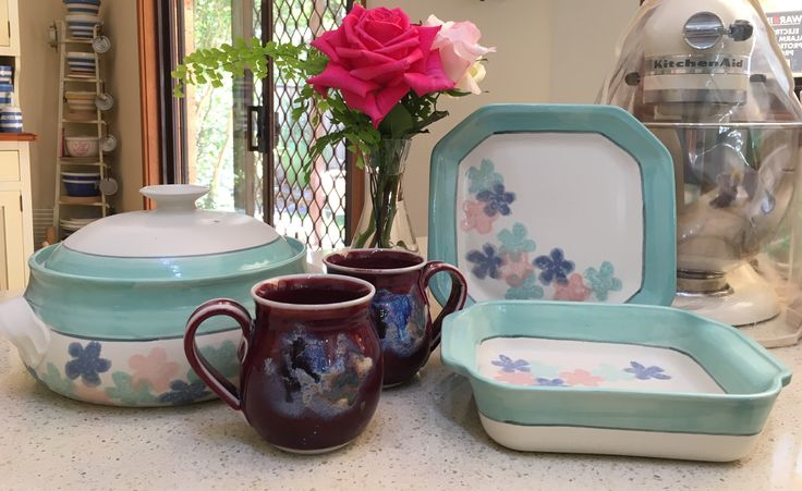 Shepherd Pottery Glenbrook Bakeware and Mugs