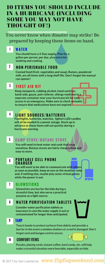 It is so important to be ready for a hurricane here in Florida, and any potential emergency that could hit your area. Check out this post to find out how to put together your kit and the essentials you will need! #beprepared