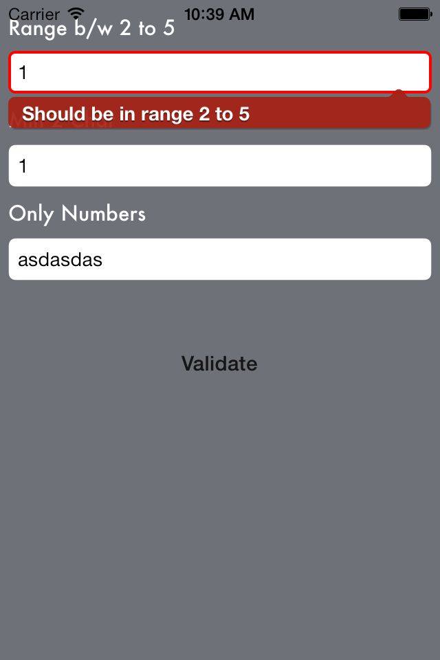 Controls to ease input field validation