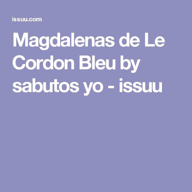 Magdalenas de Le Cordon Bleu by sabutos yo - issuu