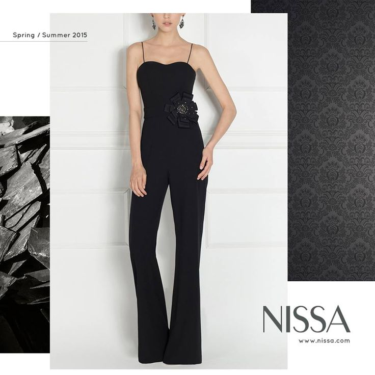 NISSA New Collection SS2015  www.nissa.com  #nissa #jumpsuit #salopeta #look #style #evening #glam #glamorous #fashion #inspiration #fashionista #black #ss2015