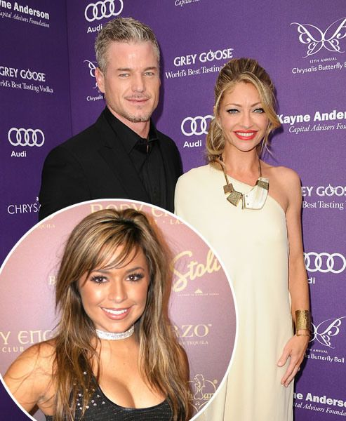 Rebecca Gayheart/Eric Dane/Kari Ann Peniche: No sex acts actually took place in a video that was shown on the Gawker web site in 2009 of the Grey's Anatomy hunk, his actress wife Rebecca, and former Miss Teen USA Kari Ann Peniche. But the video still raised eyebrows! In the video, all three lay naked in bed, cavorted in a Jacuzzi, and discussed their porn names—but they didn't have sex. Dane and Gayheart survived the bizarre scandal and went on to have two daughters together.