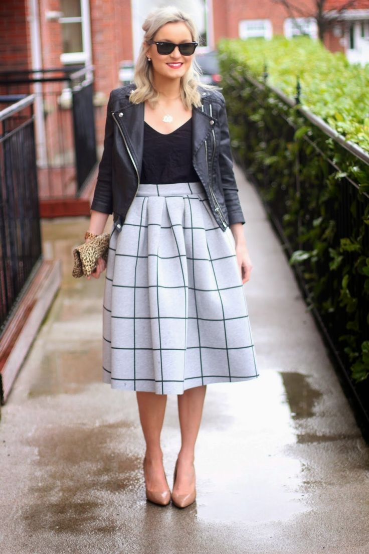 moto jacket with skirt. But it could be culottes, too! Try Lisette B6169 for the jacket and Liesl + Co Girl Friday Culottes for the skirt/culottes