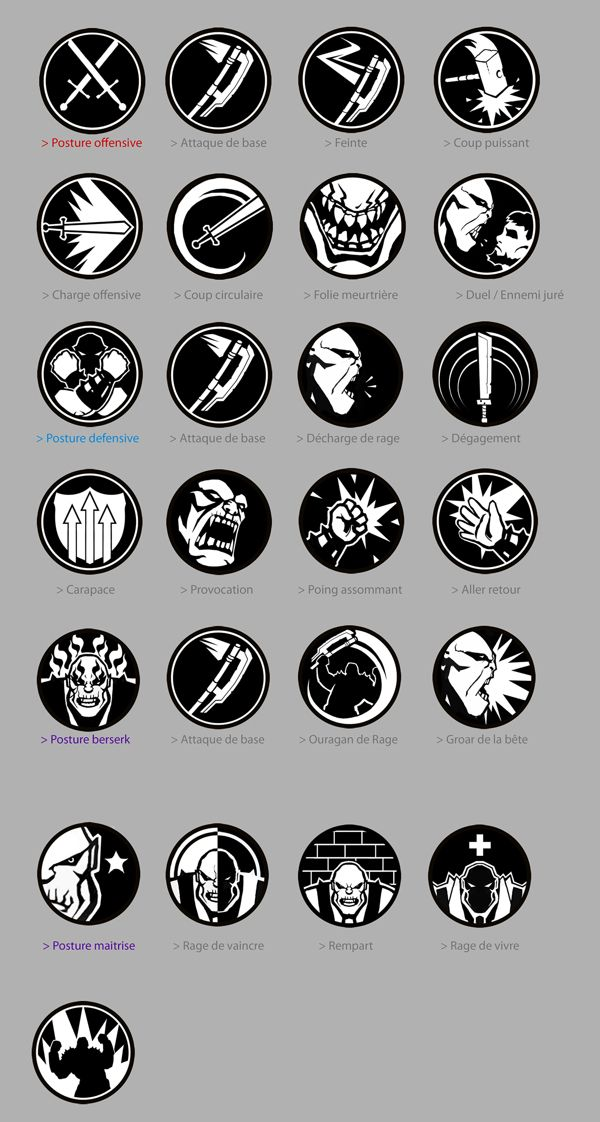 OF ORCS AND MEN - Icons and Achievement Designs by Alexandre Chaudret, via…