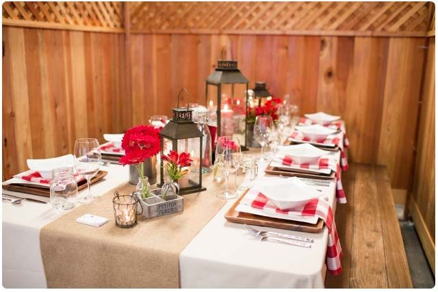 barbecue party decorations ideas | For the centerpieces we picked red roses and daisies from our garden ...