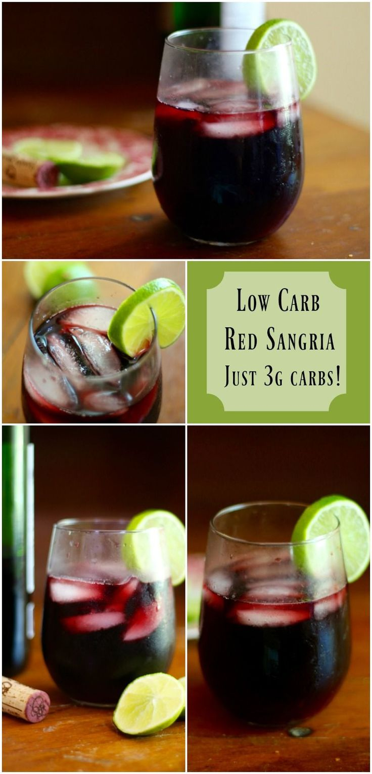 This low carb red sangria recipe is so fruity and good. Just 3g carbs per serving! from Lowcarb-ology.com