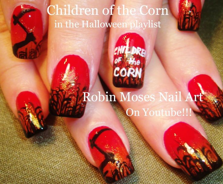 166 best halloween nail art pictures with tutorials images on halloween nails scary movie nails horror film nails halloween clip art scary nails scary movie nail art children of the corn nailsscary horror prinsesfo Gallery