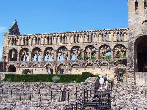 Jedburgh Abbey, Scotland - one of the most beautiful spots on our drive from Scotland to London.