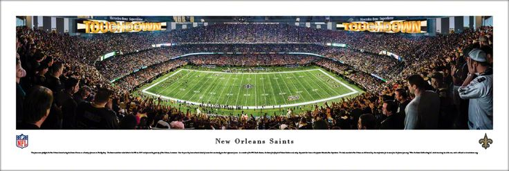 New Orleans Saints Panoramic Picture - Mercedes-Benz Superdome - Unframed $29.95