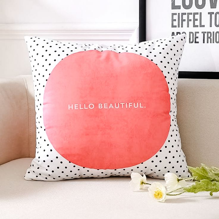 Accent your home with this beautiful inspirational quote pillow cover as a daily reminder to stay positive and appreciate the beauty around us; Features a c