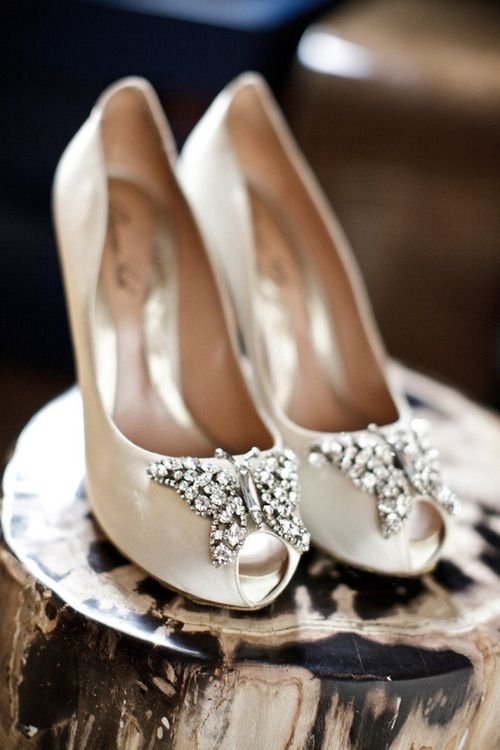 Crystal Butterflies' Wedding Shoes.