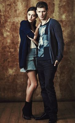 "Phoebe Tonkin ""Hayley Marshall"" and Joseph Morgan ""Klaus Mikaelson."""