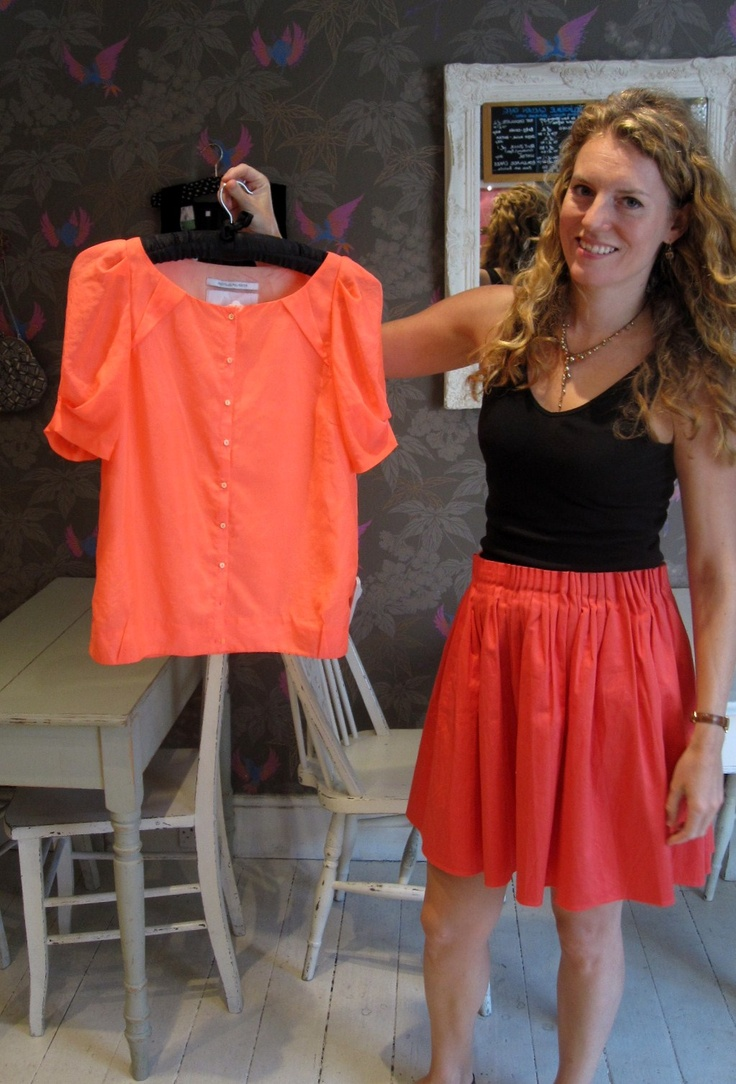 "Camilla's favourite item this week:- ""Designer Remix Collection neon pink short sleeved shirt.  I've got serious colour envy for anyone who can wear this neon colour- I love it!  Fab with a pair of jeans!"" £40"