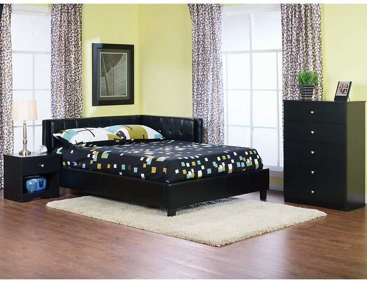 Hawthorn Twin Bed - Black, (HAWTBED) | The Brick