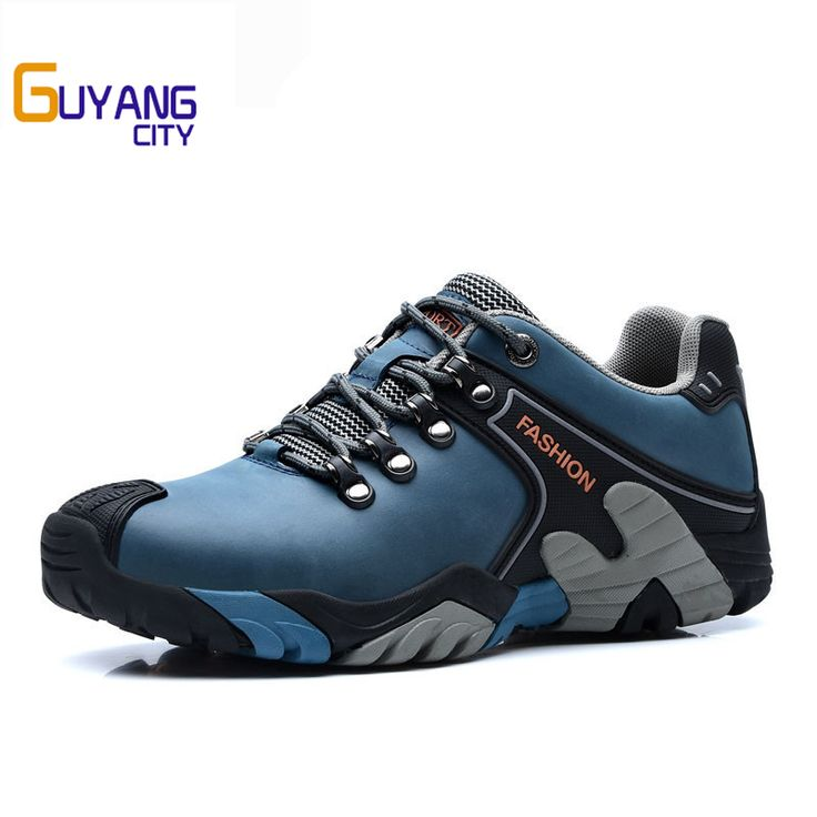 ==> [Free Shipping] Buy Best Hot sale hiking shoes leather trekking hiking boots mountain climbing shoes male waterproof sneakers Online with LOWEST Price | 32790341834