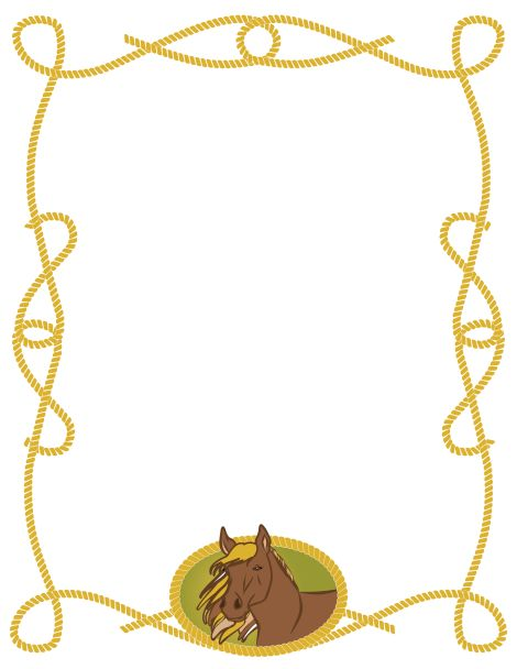 ... border page borders border features hors border pages border horses