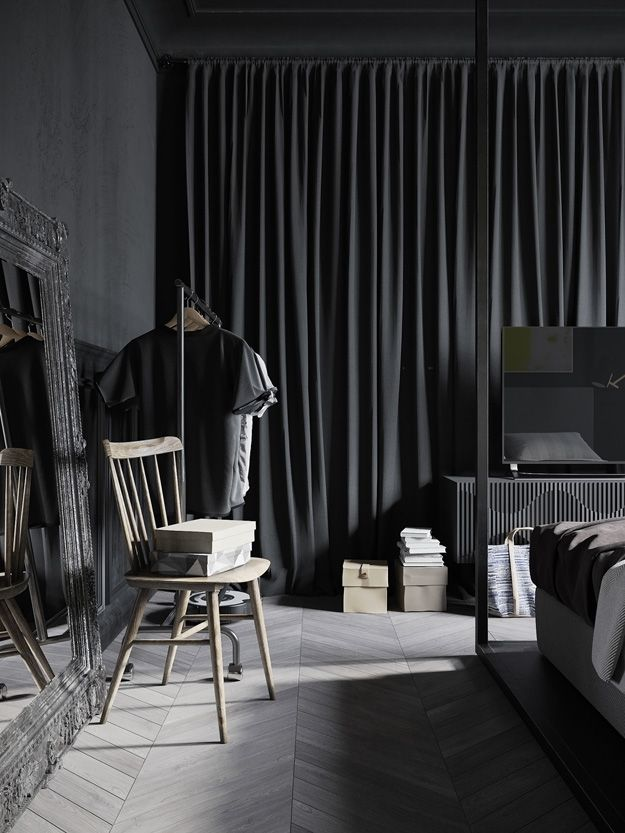 A conceptual apartment - dark and industrial - desire to inspire - desiretoinspire.net