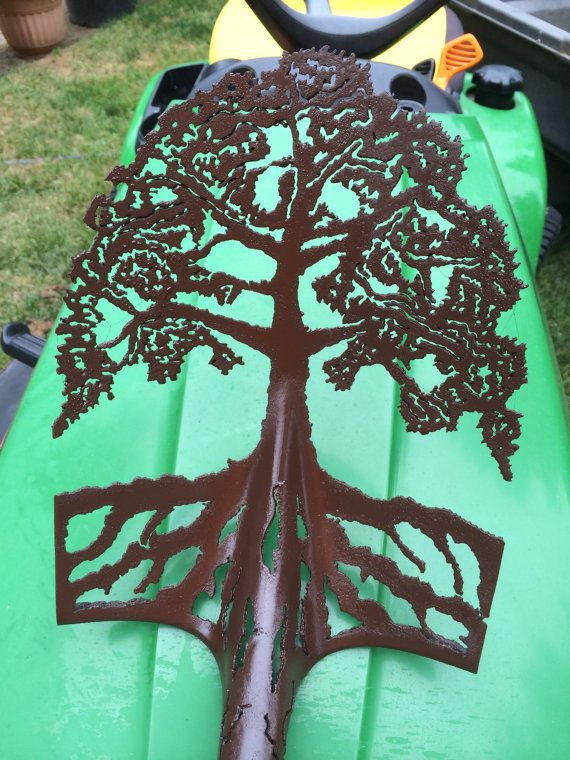 Tree of Life Plasma Cut Garden Shovel by THEFUNGARDEN on Etsy, $100.00
