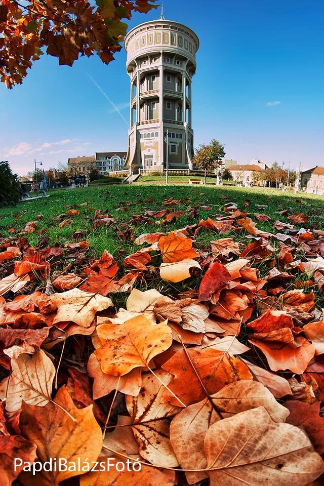 Szent István téri víztorony - ősz