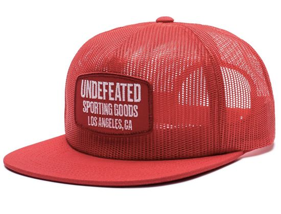 4c02612feec Red Full Mesh Snapback Cap by UNDEFEATED – Oh Snapbacks