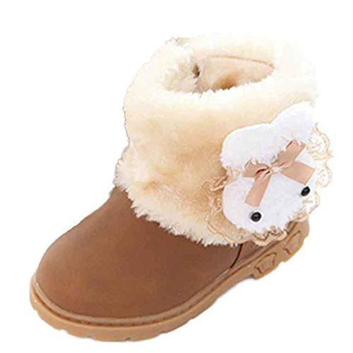 Leewa Hot Sale  PU Leather Baby Girls Winter Warm Snow Boots 1824 Months Yellow >>> Check this awesome product by going to the link at the image. (This is an affiliate link and I receive a commission for the sales) #BabyShoes