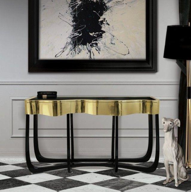 love a good black and white and gold contemporary feel. boca de lobo