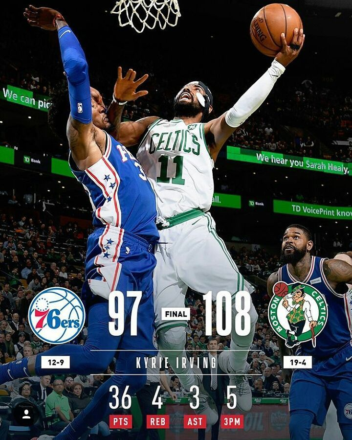 Resultados de los partidos de ayer: @sixers 97-108 @celtics  @cavs 121-114 @atlhawks  @utahjazz 126-107 @laclippers  @bucks 103-91 @trailblazers  @chicagobulls 110-111 @nuggets  Via  @nba  #nba #sixers #celtics #cavs #hawks #jazz #clippers #bucks #blazers #bulls #nuggets